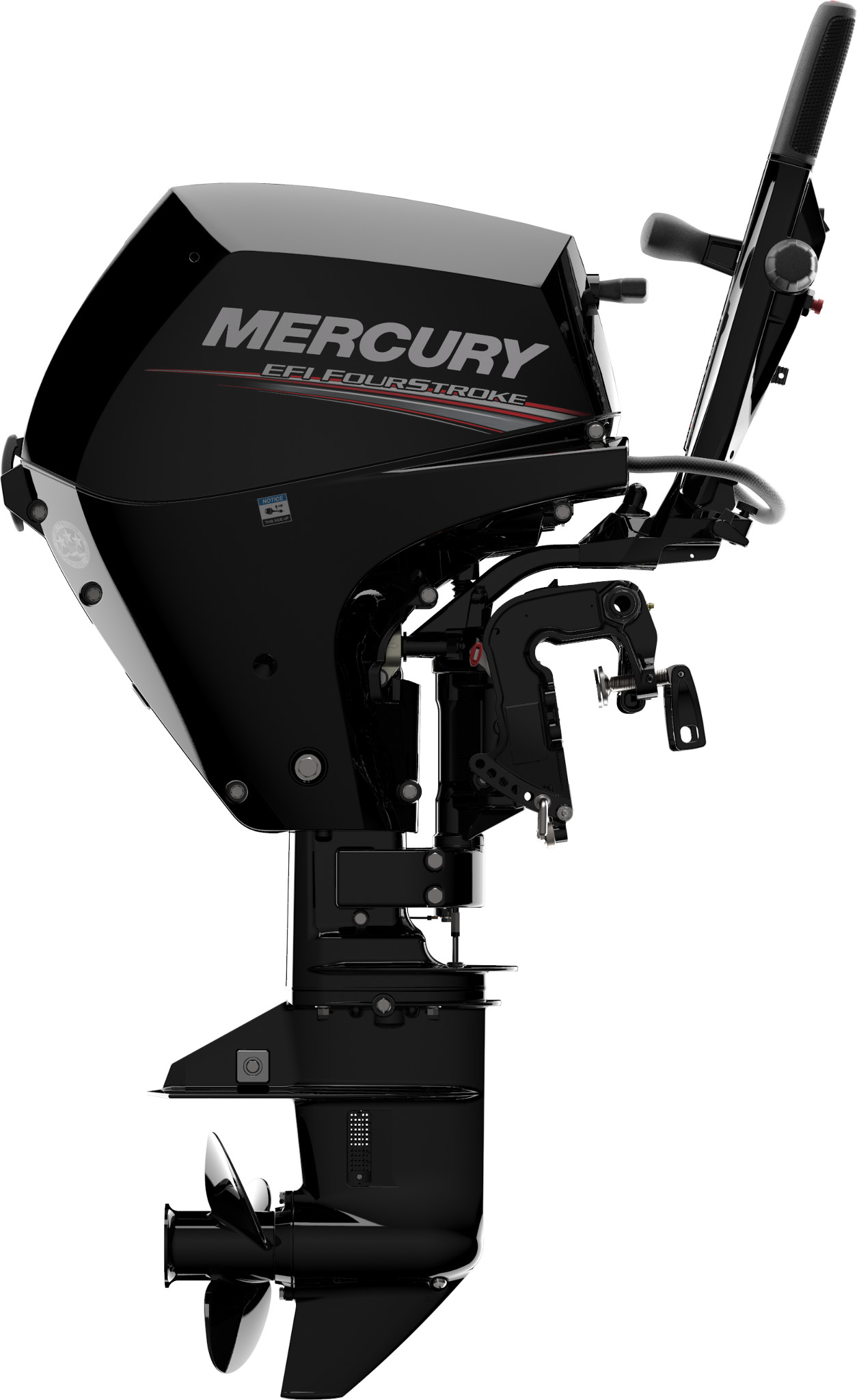 Mercury outboard with tiller handle