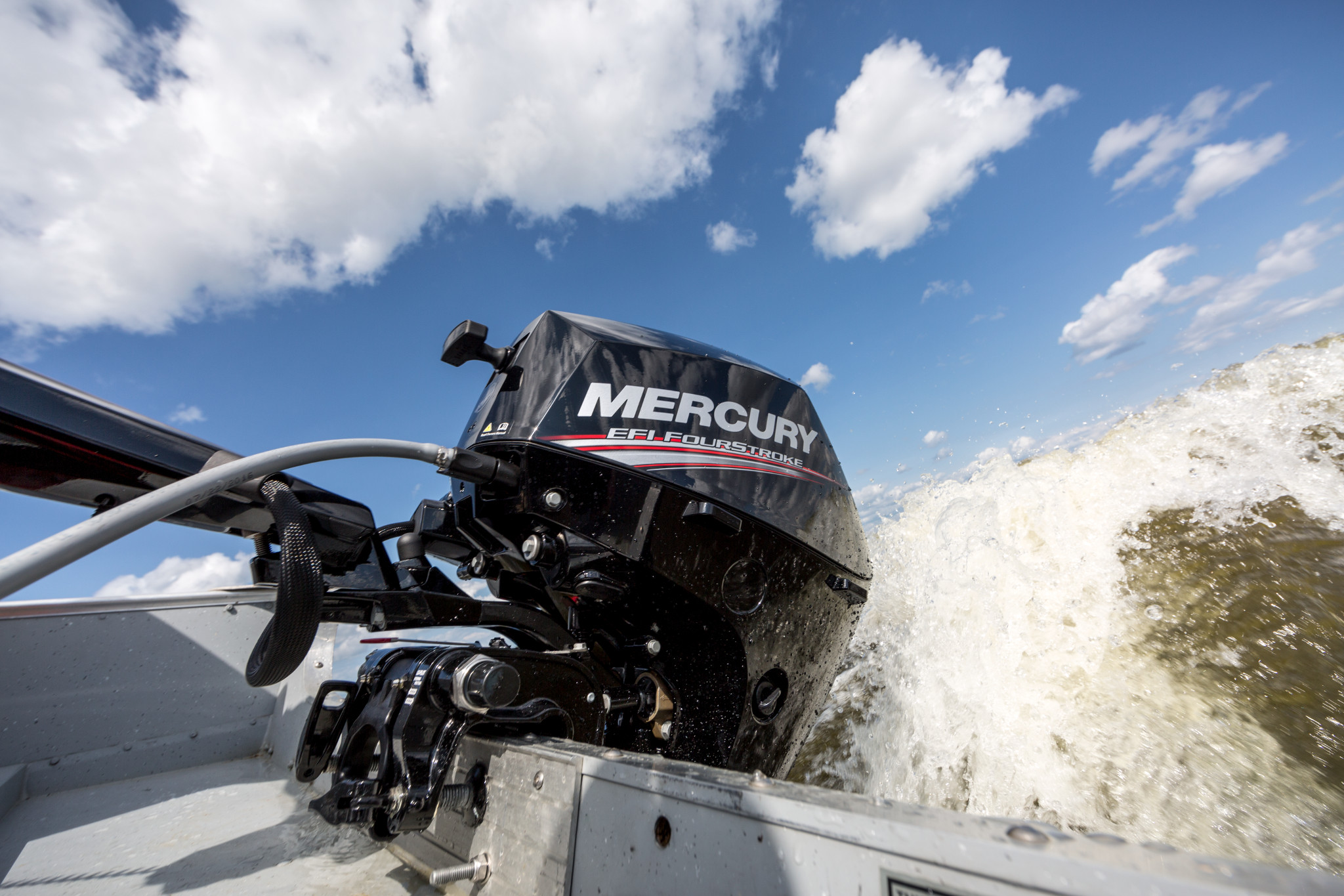 Mercury outboard and Pro Kicker motor